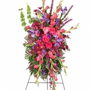 Funeral Flowers - CHERISHED MEMORIES STANDING SPRAY