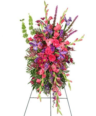 Funeral Flowers - CHERISHED MEMORIES STANDING SPRAY