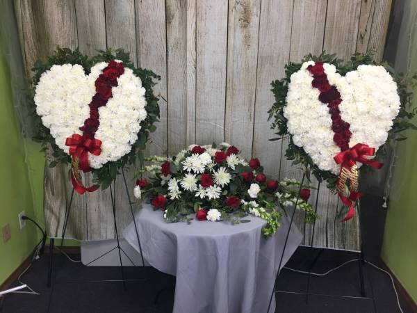 Funeral Flowers - Broken Heart Arrangement