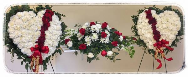 Funeral Flowers - Broken Heart Sympathy Arrangement