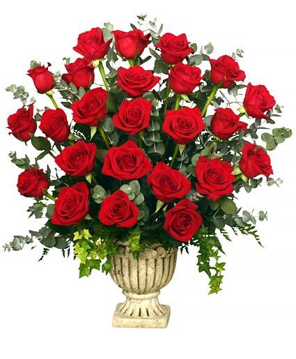 REGAL ROSES URN FUNERAL FLOWERS