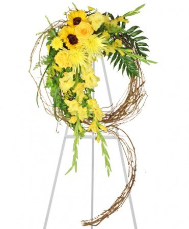 Funeral Flowers - SUNSHINE OF LIFE SYMPATHY WREATH