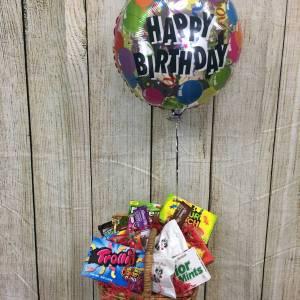 happy birthday chocolate basket