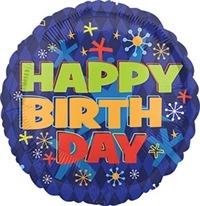 18 inch HX Bold Birthday