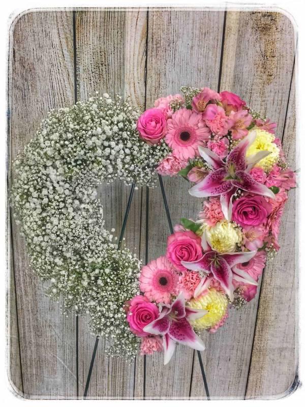 Heavenly Heart Funeral Flowers Arrangement
