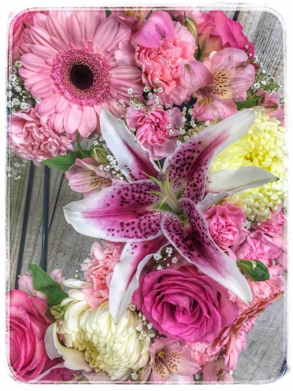 Heavenly Heart Funeral Flowers Mixed Fresh