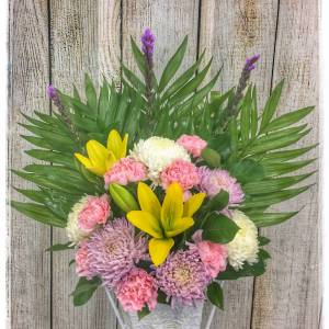 Funeral Flower Arrangement by Petals Flower Shop & Florist