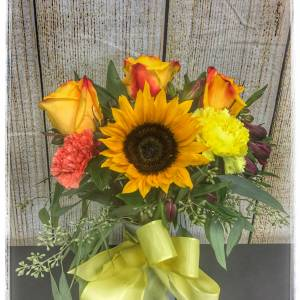 Harvest Sunset Fall Flowers Arrangement