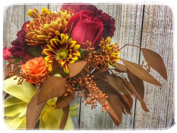 Fall Ball Flower Arrangement