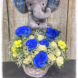 Baby Boy Bundle Flower Arrangement
