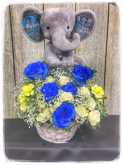 Baby Boy Bundle Flower Arrangement