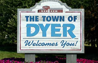Town of Dyer logo