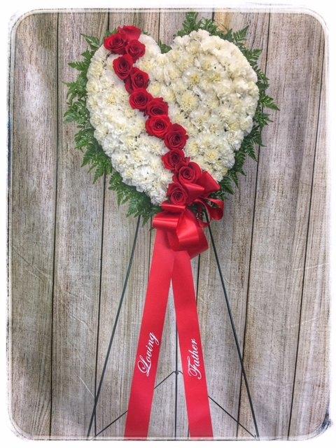 Broken Heart Funeral Flowers by Petals Flower Shop & Florist
