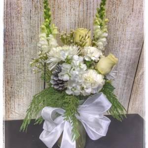 White Christmas Flowers from Petals Florist & Flower Shop