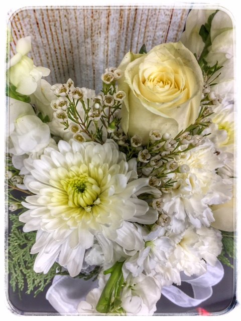 White Christmas Flowers from Petals Florist & Flower Shop