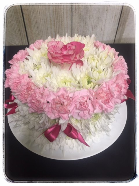 Blooming Birthday Cake by Petals Florist In Dyer Indiana