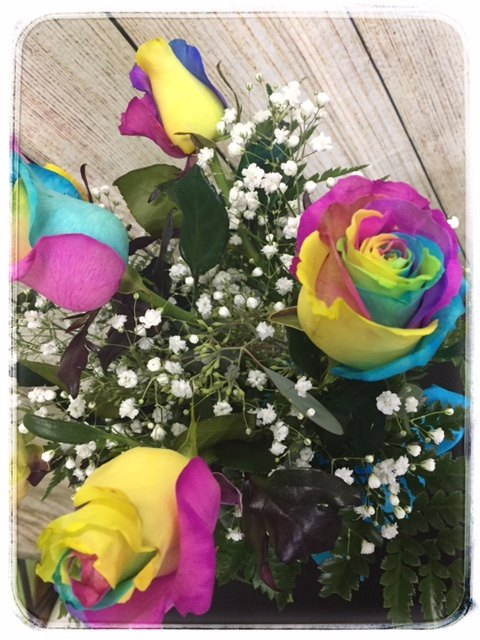 Rainbow Roses from Petals Florist in Dyer Indiana