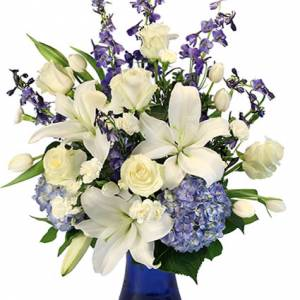 Elegant Winter Flower Arrangement From Petals Flower Shop & Florist in Dyer Indiana