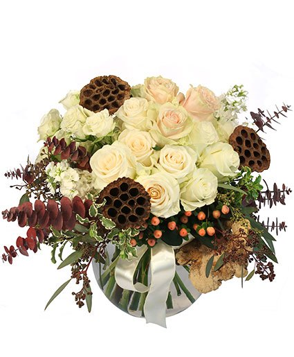 Rustic Winter Flower Arrangement From Petals Flower Shop & Florist in Dyer Indiana