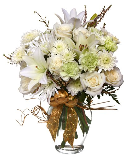 Sparkling Winter Flower Arrangement From Petals Flower Shop & Florist in Dyer Indiana