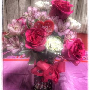 Valentine's Surprise Flower Arrangement From Petals