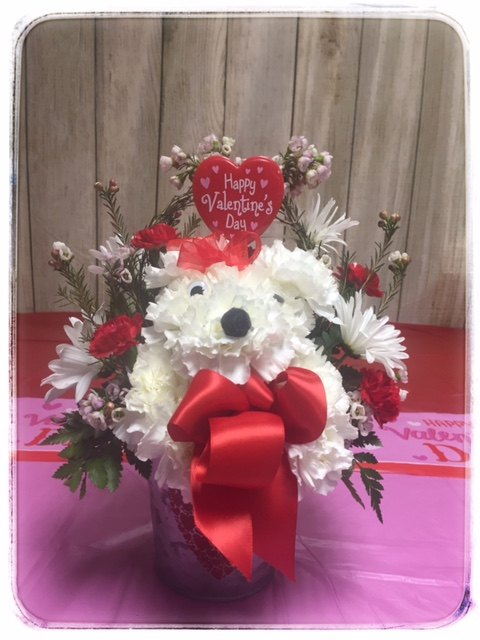 Puppy Love Valentine's Day Arrangement From Petals