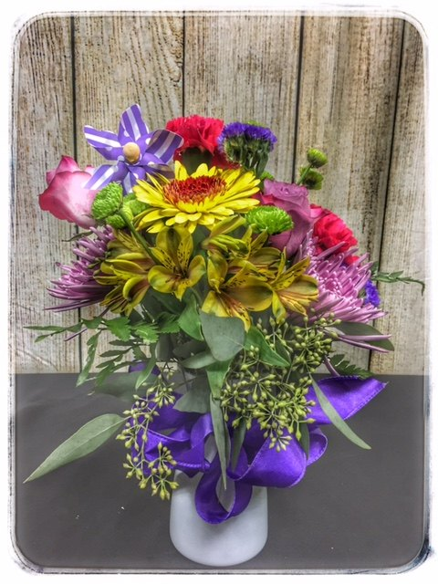 """Wind"" spring flower arrangement from Petals"