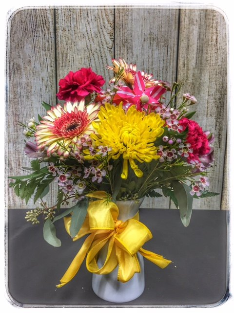 """Seasons"" spring flower arrangement from Petals"
