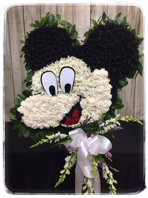 Custom Sympathy Tribute By Petals Florist & Flower Shop, Dyer Indiana.